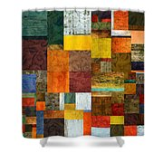 Brocade Color Collage 1.0 Shower Curtain