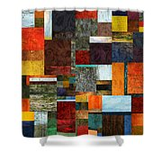 Brocade Color Collage 2.0 Shower Curtain