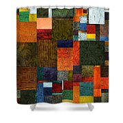 Brocade Color Collage 3.0 Shower Curtain