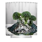 Broccoli Freshsplash Shower Curtain