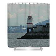 Brockton Point Lighthouse Shower Curtain