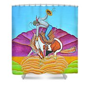 The Cowboy From Darby Shower Curtain