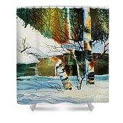 Broken Birch Shower Curtain