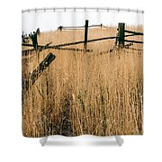 Broken Down Fence Shower Curtain
