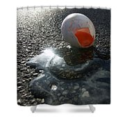 Broken Egg Shower Curtain by Matthias Hauser