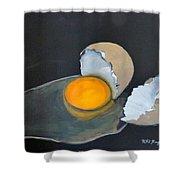 Broken Egg Shower Curtain