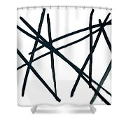 Broken Fence Shower Curtain