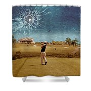 Broken Glass Sky Shower Curtain