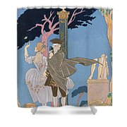 Broken Hearts Broken Statues Shower Curtain
