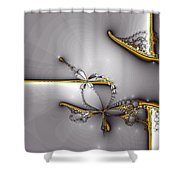 Broken Jewelry-fractal Art Shower Curtain by Lourry Legarde