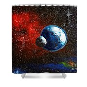 Broken Moon Shower Curtain