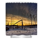 Broken Sustainable Forest Management Shower Curtain