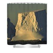 Broken Tabular Icebergs Antarctica Shower Curtain
