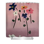 Broken Vase Shower Curtain