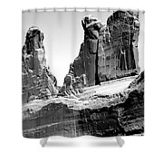 Broken Wall Bw Shower Curtain