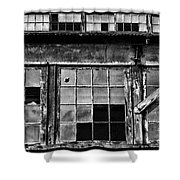 Broken Windows In Black And White Shower Curtain by Paul Ward
