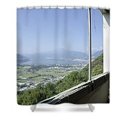 Broken Windows With Panoramic View Shower Curtain
