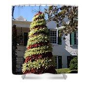 Bromelia Christmas Tree Shower Curtain