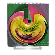 Bromiliad Abstract Shower Curtain