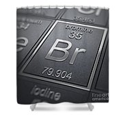 Bromine Chemical Element Shower Curtain