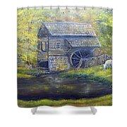 Bromley Mill At Cuttalossa Farm Shower Curtain