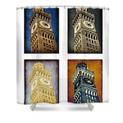Bromo Seltzer Tower Quad Shower Curtain