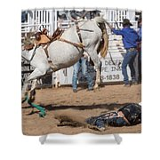 Bronco Bucks Cowboy Shower Curtain