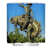 Bronco Buster - Denver Shower Curtain