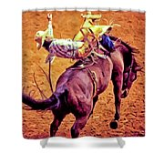 Bronco Bustin Shower Curtain
