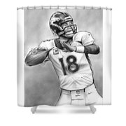 Broncos Peyton Manning Shower Curtain