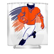 Broncos Shadow Player2 Shower Curtain