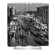 Bronx Fordham Road At Night Shower Curtain