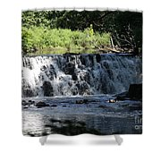 Bronx River Waterfall Shower Curtain by John Telfer