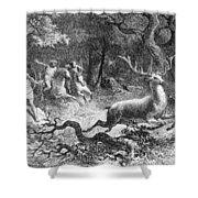 Bronze Age, Hunting Scene Shower Curtain