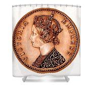 Bronze Empress Victoria Shower Curtain
