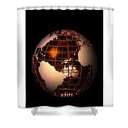 Bronze Globe... Shower Curtain