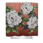 Bronze Magnolia Shower Curtain
