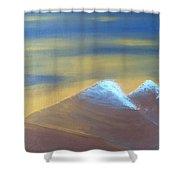 Bronze Mountains Shower Curtain