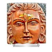 Bronze Shiva Statue - Uttarkashi India Shower Curtain