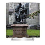 Bronze Statue Of Sir Benjamin Lee Guinness  Shower Curtain