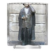 Bronze Statue Stockholm - Evert Taube Shower Curtain