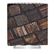 Bronze Tile Squares Shower Curtain