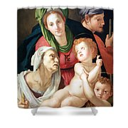 Bronzino's The Holy Family Shower Curtain