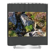 A Brook In The Wicklow Mountains, Ireland Shower Curtain