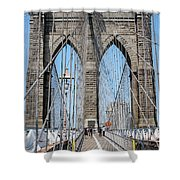 Brooklin Bridge Shower Curtain