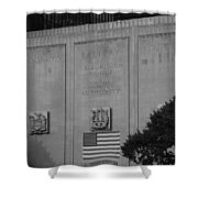 Brooklyn Battery Tunnel In Black And White Shower Curtain