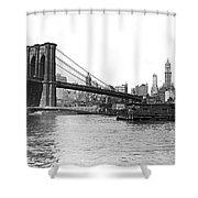 Brooklyn Bridge And Ny Skyline Shower Curtain