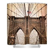 Brooklyn Bridge Approach Shower Curtain