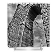 Brooklyn Bridge Arch - Vertical Shower Curtain