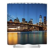 Brooklyn Bridge At Dusk Shower Curtain